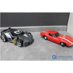 (2) Large Race Cars