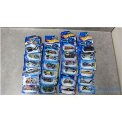 (24) Hotwheels in Packages