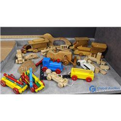 Vintage Wooden Kids Toys