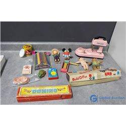 Various Vintage Toys and Games