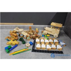 Wooden Tonka, Wooden Toy Cars, Blocks, etc