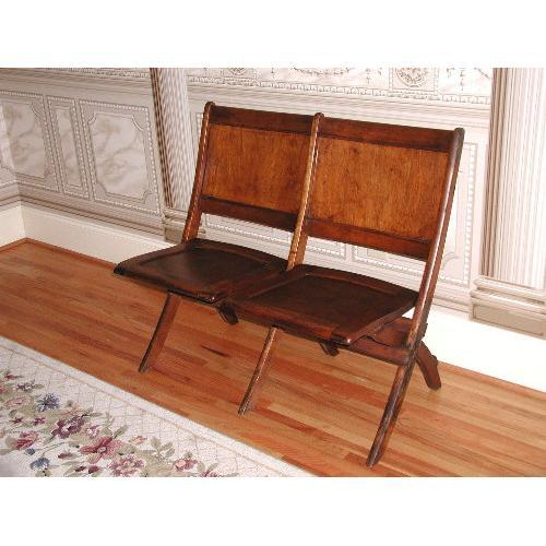 Cool Heywood Wakefield Chair Bench Wooden Double 1092713 Ncnpc Chair Design For Home Ncnpcorg