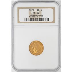 1927 $2 1/2 Indian Head Quarter Eagle Gold Coin NGC MS60