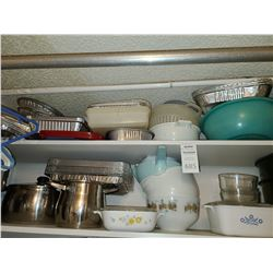 Pots, Pyrex and bakeware