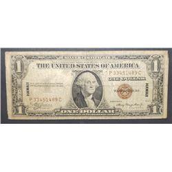"1935a $1 ""NORTH AFRICA"" SILVER CERTIFICATE"