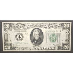 1928 $20 FEDERAL RESERVE NOTE