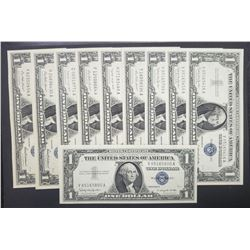 10-1957's CU $1 SILVER CERTS
