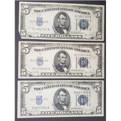 3-1934 $5 SILVER CERTIFICATES