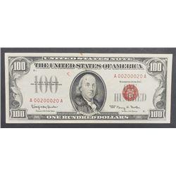 1966 $100 U.S. NOTE AU/CU