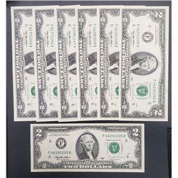 7-1995 $2 FED RSV NOTES