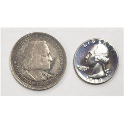 1892 COLUMBIAN HALF DOLLAR; 1968