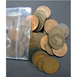 100 GREAT BRITAIN LARGE PENNY LOT