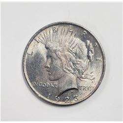 1923 PEACE RAINBOW REVERSE DOLLAR