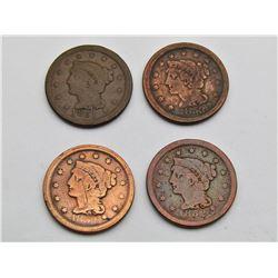 1851, 1852, 1853, 1854 LARGE CENT