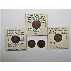 WHEAT CENTS 1910, 1913, 1927 VAR 1,