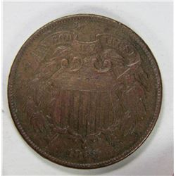 "1865 TWO CENT PIECE - NICE FULL ""WE"""
