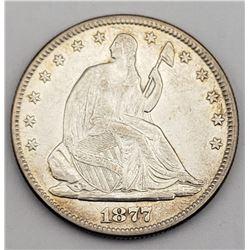 1877 SEATED HALF DOLLAR