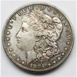 1881-S RAINBOW MORGAN DOLLAR