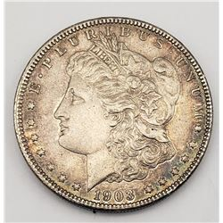 1903 MORGAN DOLLAR UNC TONED