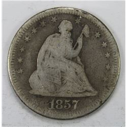 1857-O SEATED QUARTER