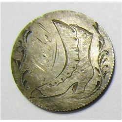 """1884 SEATED DIME """"LOVE TOKEN"""""""