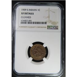 1909-S INDIAN CENT NGC XF DETAILS