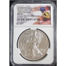 2016-W AMERICAN SILVER EAGLE NGC MS69