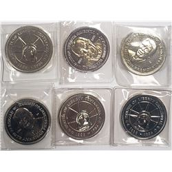 6-Natl Historic Mint Double Eagle Lot