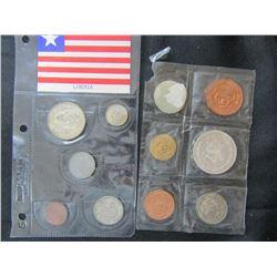 1967 MEXICO 5 COIN MINT SET & 1960 LIBERIA