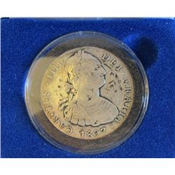 Mexico 1807 8 Reales T.H Silver Coin With Chop Mar