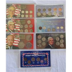 7-TRIBUTE COIN SETS - OVERSIZED HOLDERS