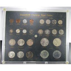 TWENTIETH CENTURY TYPE SET (26 COINS)