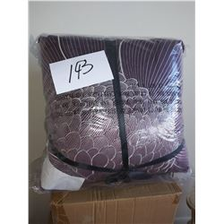 PAIR OF EMBROIDERED DESIGNER PILLOWS: QVC $39.00 PAIR