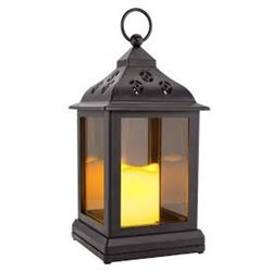 INDOOR/OUTDOOR LED LANTERNS W TIMER / FLICKER LIGHTS / $21.99 EACH