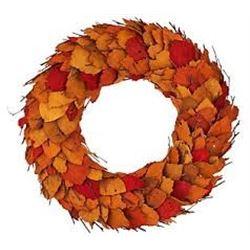 17 Inch Dried Leaf w Twigs Wreaths by ED On Air QVC 39.99