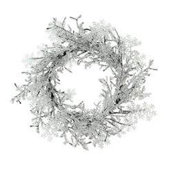 "ICE CRYSTAL TWIG WREATH 24"" SEE ON HSN $79.99"