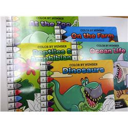 Color by Numbers Set / 5 Books ( $5.95 each) $29.75 Set