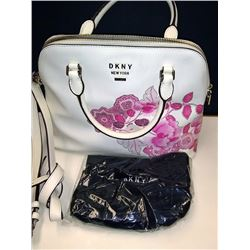 NEW AUTHENTIC DKNY NEW YORK FLORAL LEATHER HAND BAG $249.00
