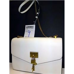 NEW, DKNY IVORY LEATHER HANDBAG $239.00
