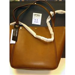 NEW, CALVIN KLEIN OVERSIZED BROWN LEATHER TOTE $158.00