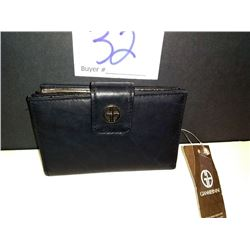 NEW, GIANI BERNINI LEATHER PURSE, BLACK $59.50