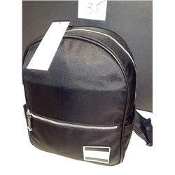 NEW, CALVIN KLEIN BLACK NYLON BACKPACK $158.00