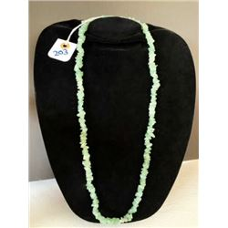 AUTHENTIC GREEN LIGHT JADE NECKLACE