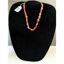 AUTHENTIC ORANGE NATURAL CARNELIAN NECKLACE