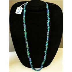 AUTHENTIC LAPIS AND MALACHITE NECKLACE