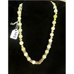 AUTHENTIC GOLD PLATED JADE NECKLACE