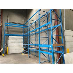 4 SECTIONS OF 16FT H X 42INCH W WAREHOUSE PALLET RACKING - DECKING NOT INCLUDED