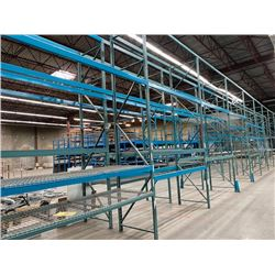 10 SECTIONS OF 16FT H X 42INCH W WAREHOUSE PALLET RACKING - DECKING NOT INCLUDED