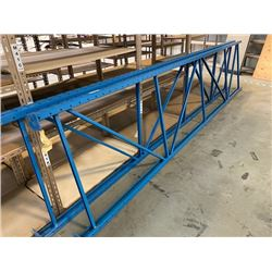 2 16FT H X 42INCH W WAREHOUSE PALLET RACKING - DECKING NOT INCLUDED