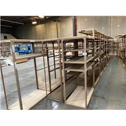 APPROX 31 SECTIONS OF BROWN PARTS SHELVING